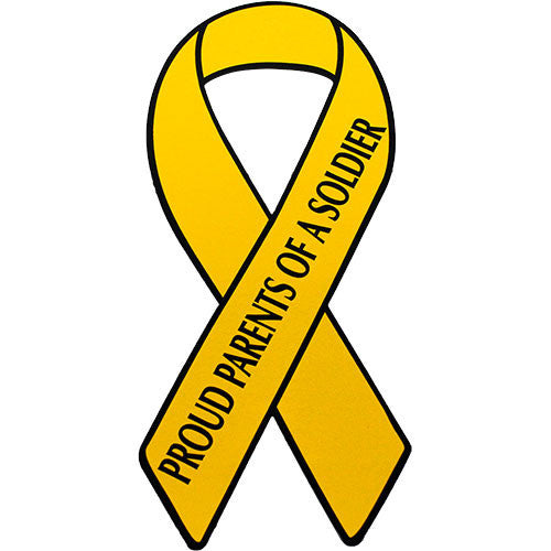 Support Our Troops Yellow Ribbon Proud Parents of a Soldier 8