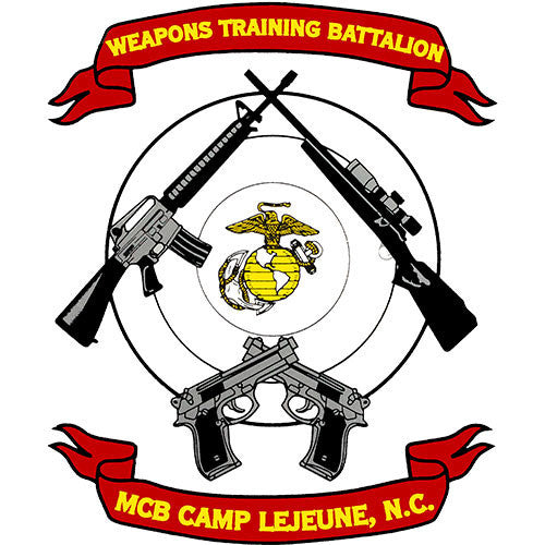 Camp Lejeune Weapons Training Battalion Clear Decal