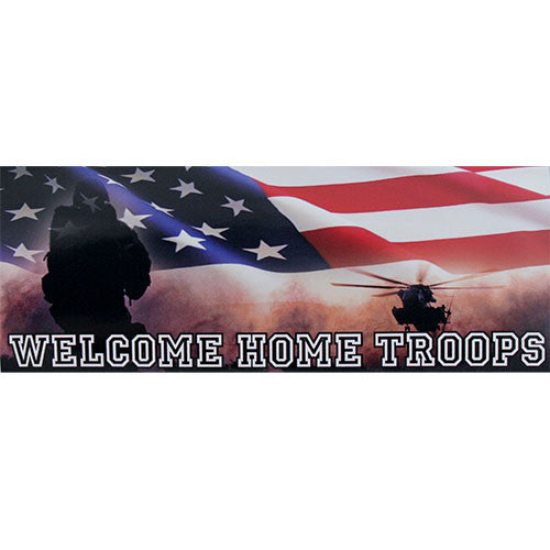 Welcome Home Troops Bumper Sticker