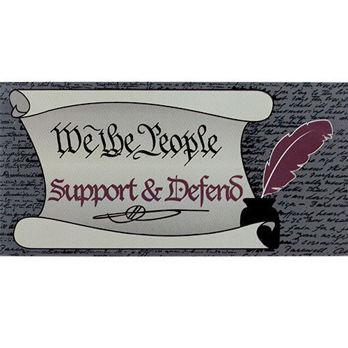 We The People Support & Defend Bumper Sticker