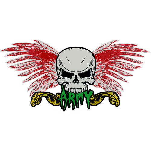Army Skull and Wings Clear Decal