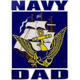 U.S. Navy Dad Eagle, Anchor & Ship Clear Decal