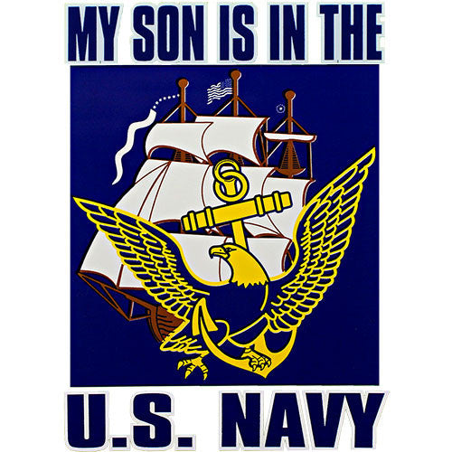 My Son Is In The U.S. Navy Eagle, Anchor & Ship Clear Decal