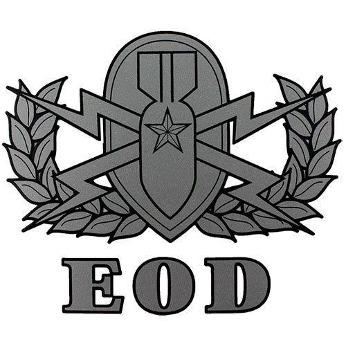 EOD (Explosive Ordnance Disposal) Badge Clear Decal