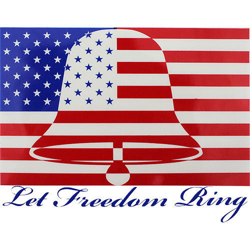 Let Freedom Ring Clear Decal