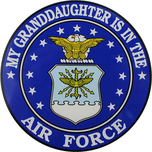 My Granddaughter Is In The Air Force With Crest Clear Decal