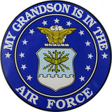 My Grandson Is In The Air Force With Crest Clear Decal