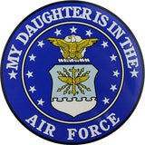 My Daughter Is In The Air Force With Crest Clear Decal