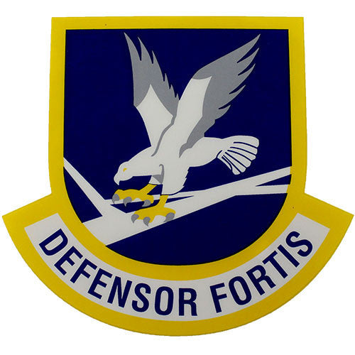 Defensor Fortis Air Force Security Force Clear Decal