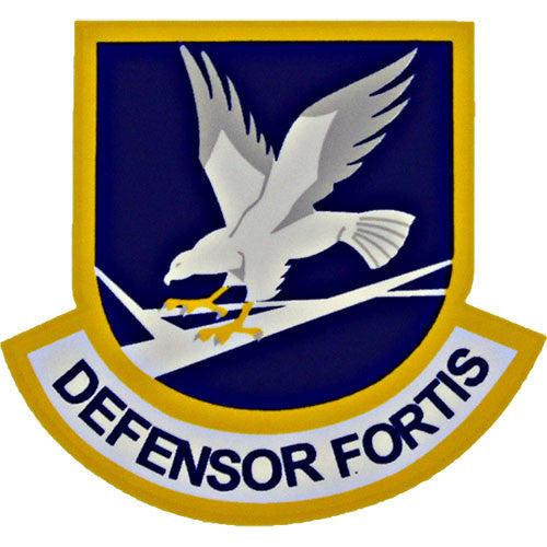 Defensor Fortis Air Force Security Force Small Clear Decal