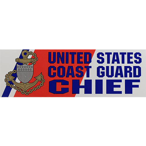 Coast Guard Chief Bumper Sticker