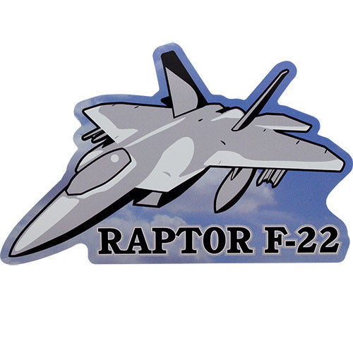 Air Force Raptor F-22 with Plane Sticker