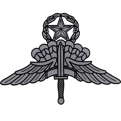 Military Free Fall Jumpmaster Parachute (HALO Wings) decal