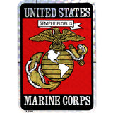 Marine Corps Eagle Globe and Anchor 3.5 x 2.5 Inch Sticker