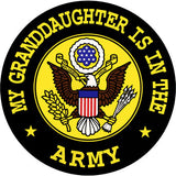 My Granddaughter Is In The Army Clear Decal