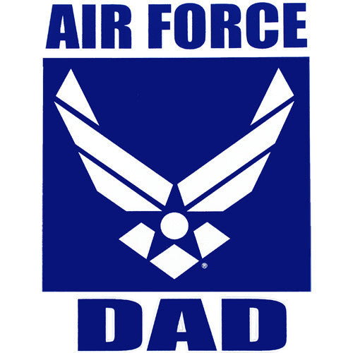 Air Force Dad Hap Arnold Clear Decal