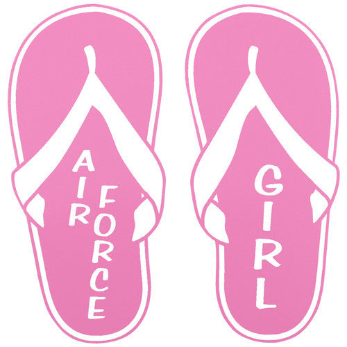 Air Force Girl Pink Flip Flops 4