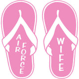 Air Force Wife Pink Flip Flops 4