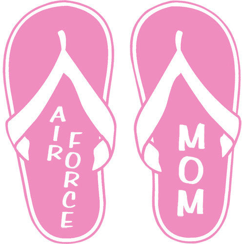 Air Force Mom Pink Flip Flops 4