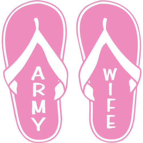 Army Wife Pink Flip Flops 4