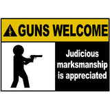 Guns Welcome - Industrial Sign Sticker