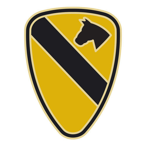 Combat Service Identification Badge Sticker - 1st Cavalry Division Decal