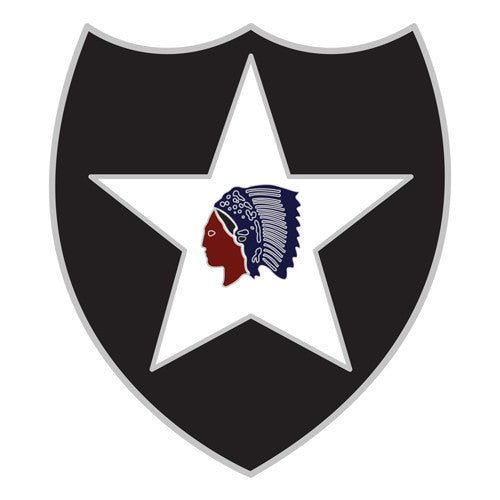 Combat Service Identification Badge Sticker - 2nd Infantry Division Decal
