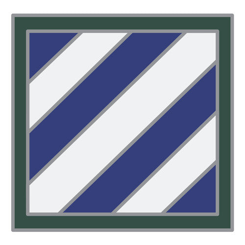 Combat Service Identification Badge Sticker - 3rd Infantry Division Decal