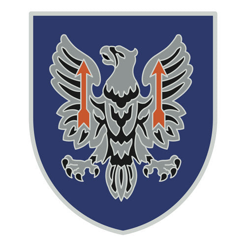 Combat Service Identification Badge Sticker - 11th Aviation Command Decal