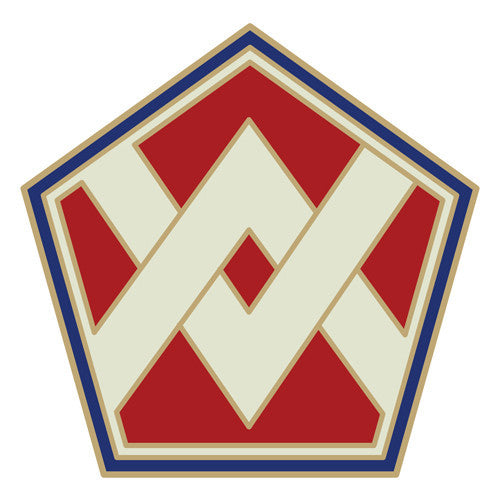 Combat Service Identification Badge Sticker - 55th Sustainment Brigade Decal