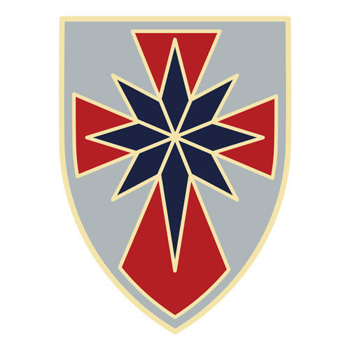 Combat Service Identification Badge Sticker - 8th Sustainment Command Decal