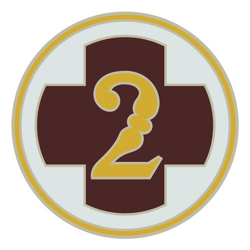 Combat Service Identification Badge Sticker - 2nd Medical Brigade Decal