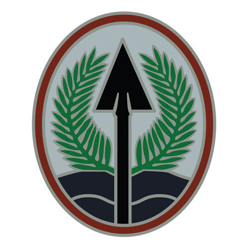 Combat Service Identification Badge Sticker - Multinational Corps Iraq Decal