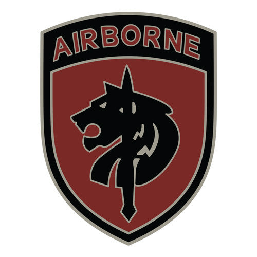Combat Service Identification Badge Sticker - Special Forces Operations Command Africa Decal