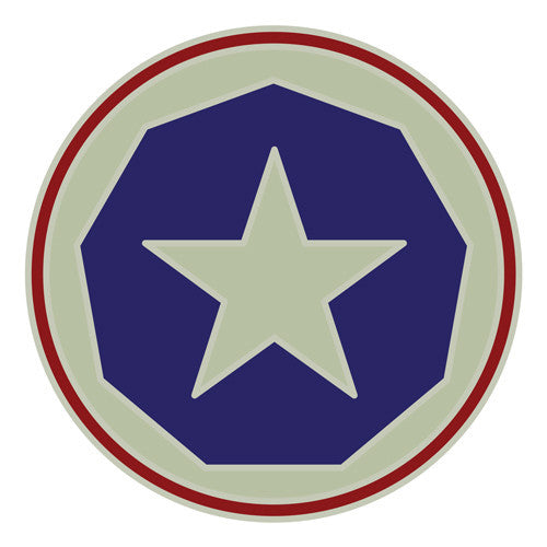 Combat Service Identification Badge Sticker - 9th Support Command Decal