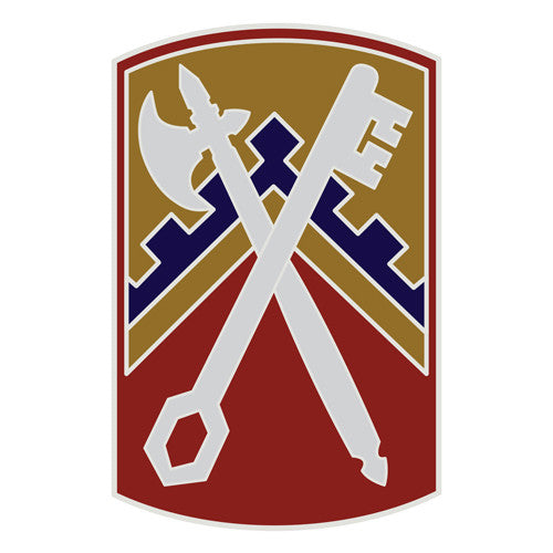 Combat Service Identification Badge Sticker - 16th Sustainment Brigade Decal