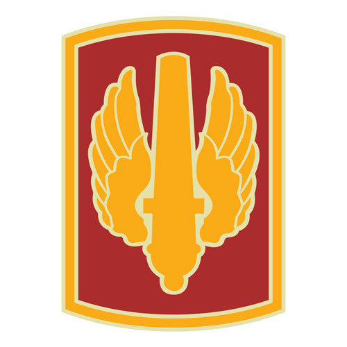 Combat Service Identification Badge Sticker - 18th Fires Brigade Decal