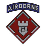 CSIB Sticker - 20th Engineer Brigade with Airborne Tab Decal