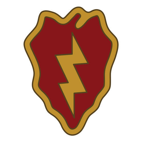 Combat Service Identification Badge Sticker - 25th Infantry Division Decal