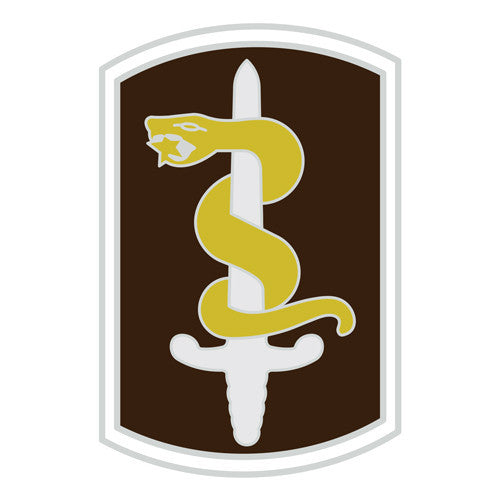 Combat Service Identification Badge Sticker - 30th Medical Command Decal