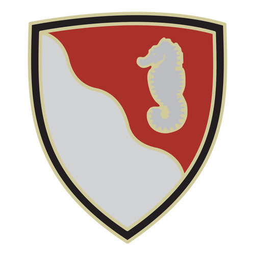 Combat Service Identification Badge Sticker - 36th Engineer Brigade Decal