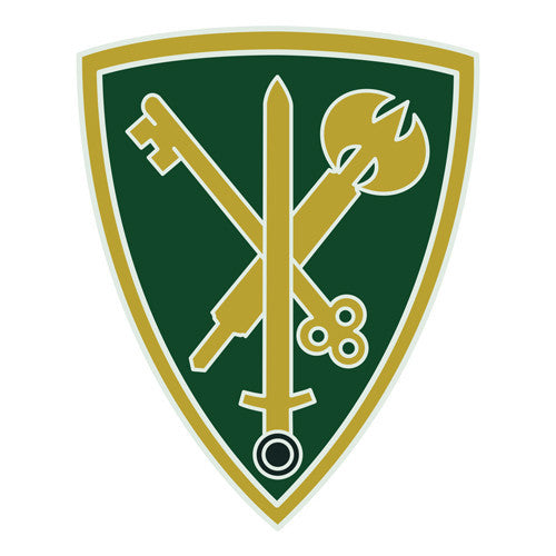 Combat Service Identification Badge Sticker - 42nd Military Police Brigade Decal