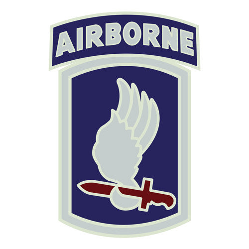 Combat Service Identification Badge Sticker - 173rd Airborne Brigade Decal
