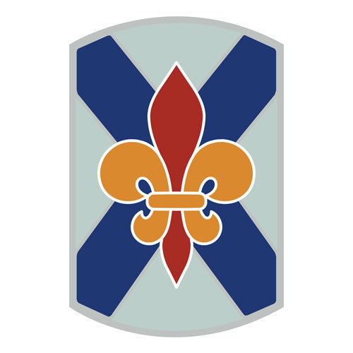 Combat Service Identification Badge Sticker - 256th Infantry Brigade Decal