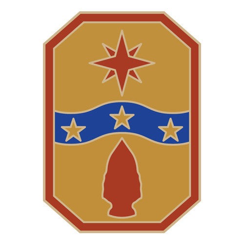 Combat Service Identification Badge Sticker - 371st Sustainment Brigade Decal