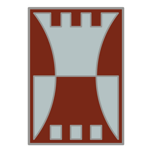 Combat Service Identification Badge Sticker - 416th Engineer Command Decal