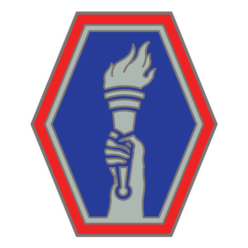 Combat Service Identification Badge Sticker - 442nd Infantry Regiment Decal