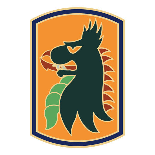 Combat Service Identification Badge Sticker - 455th Chemical Brigade Decal