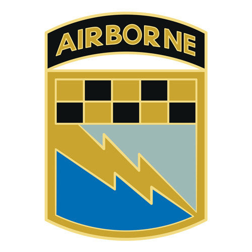 Combat Service Identification Badge Sticker - 525th Battlefield Surveillance Brigade Airborne Decal