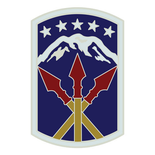 Combat Service Identification Badge Sticker - 593rd Sustainment Brigade Decal